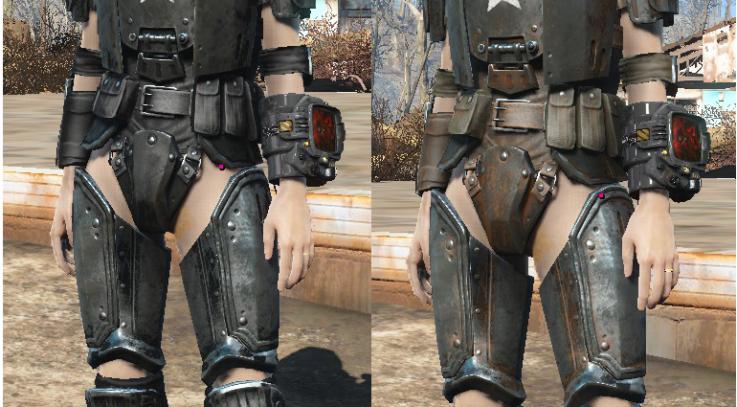 Black Combat Armor