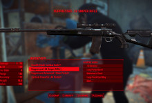Black Marksman Sniper Rifle Stock