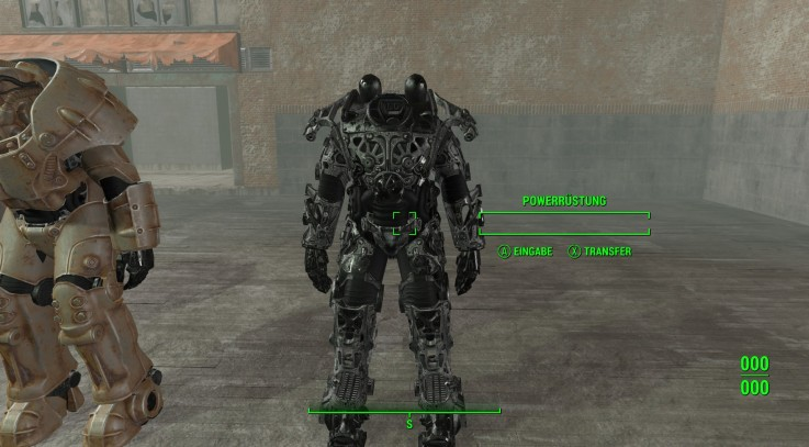 Black Scratchy Frame for PowerArmor
