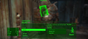 Buffout and Mysterious serum craftable  2
