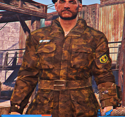 camo army fatigues fallout 4 fo4 mods