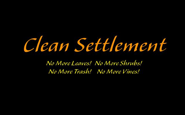 Clean Settlement