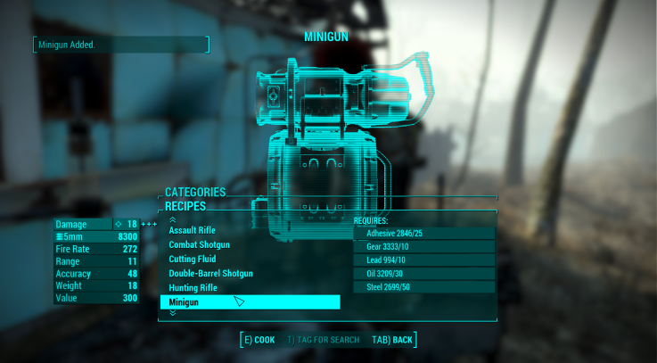 Fallout  Mod Unlimited Crafting Materials
