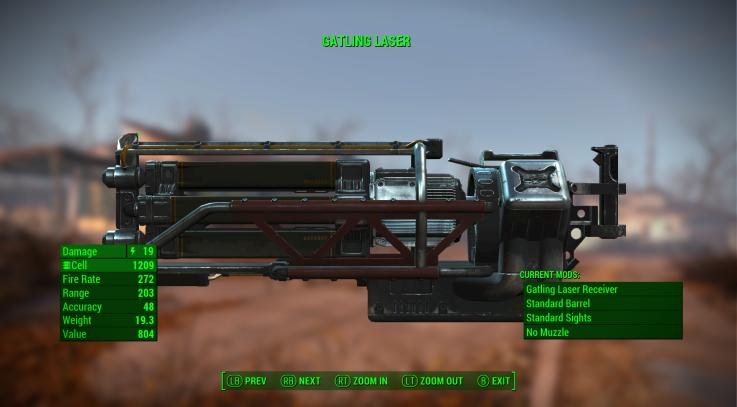 FO 4 Gatling Laser Ammo Swap 2