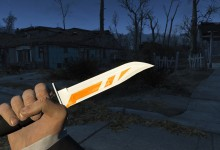 FO4 Combat Knife Asiimov  1