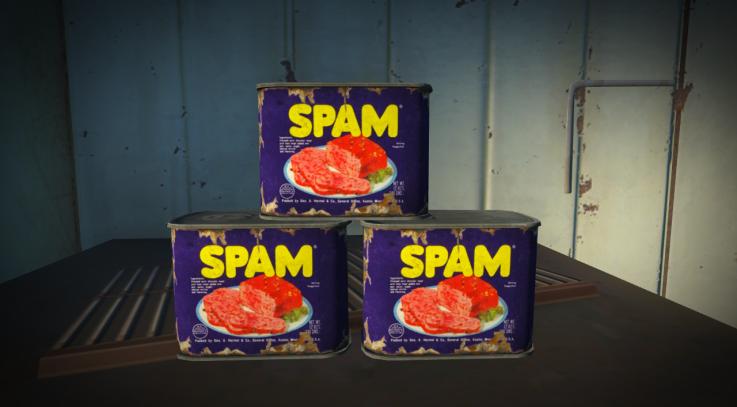 Fallout 4 1950's SPAM ReTexture