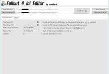 Fallout 4 Ini Editor