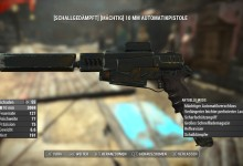 Fallout 4 Wasted Black Rusty 10MM. Pistol  1