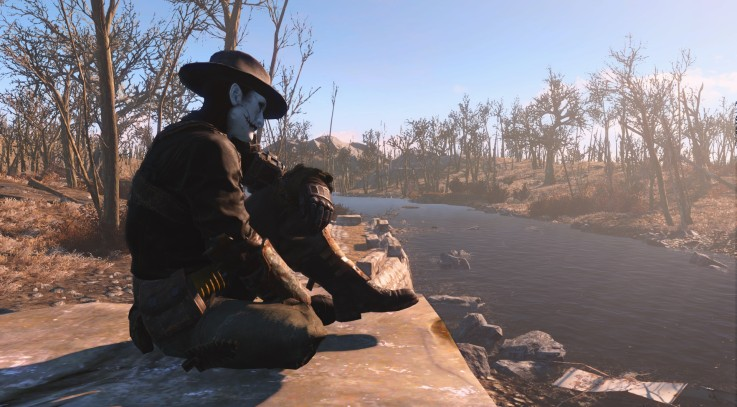 Fallout 4 sit on the floor