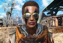 Gold-Rimmed Patrolman Sunglasses