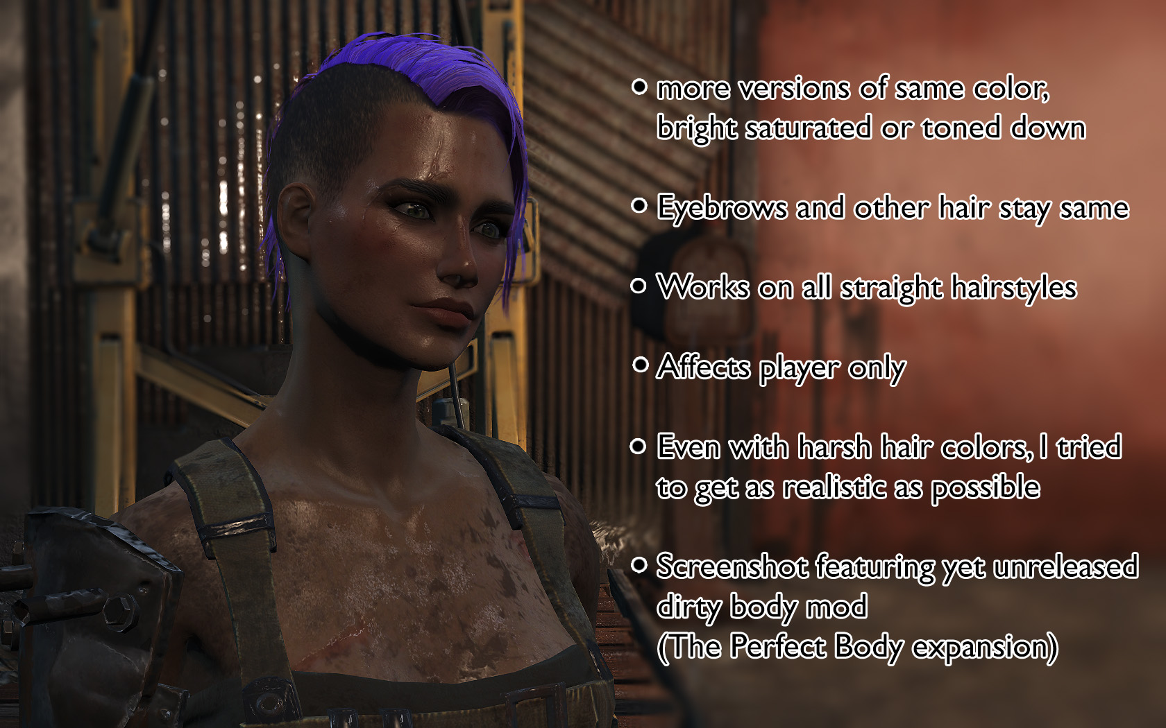 Hair Dye Mod Separate Hair And Eyebrows Color At Fallout 4 Nexus