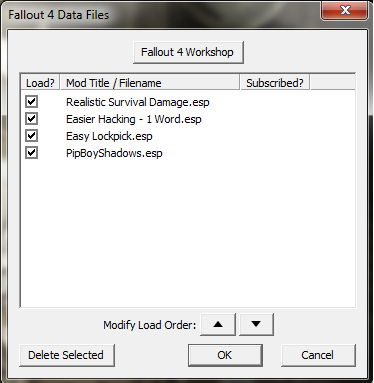 How to access Fallout 4 data menu