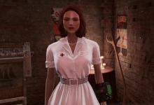 Laundered White Nurse Dress 2