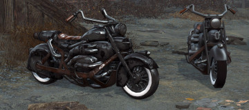 Lone Wanderer Motorcycle - Black Edition 2