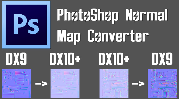 PhotoShop Normal Map Converter Tool