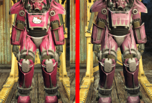 Pink Hello Kitty Power Armor T45 T51 T60
