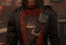 Red and Black Minuteman General's Outfit
