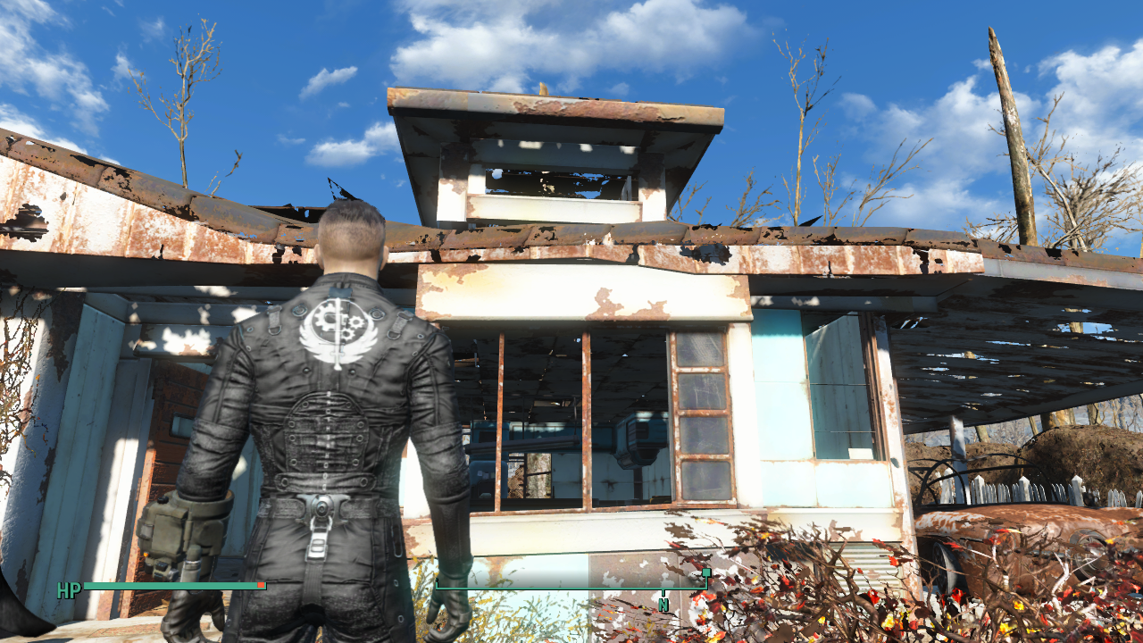 Simple Black Bos Outfit Retexture With Logo Fallout 4
