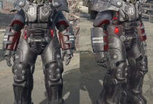 Standalone X-01 Brotherhood of Steel Power Armor Paint Set (All ranks)