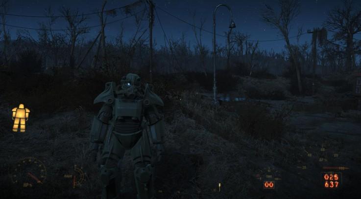 Transparent Power Armor HUD