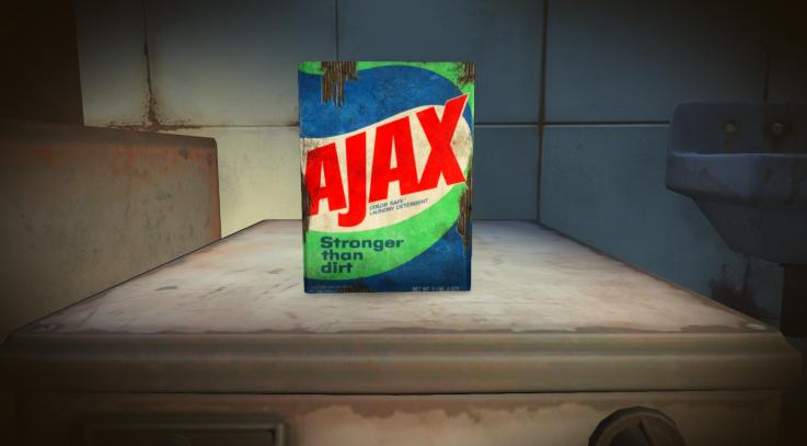 Vintage AJAX detergent box