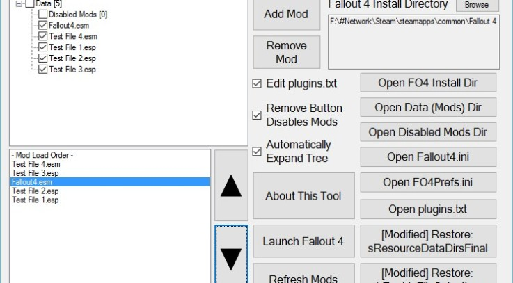 Yet Another Fallout 4 Mod Manager (YAFOMM) 3