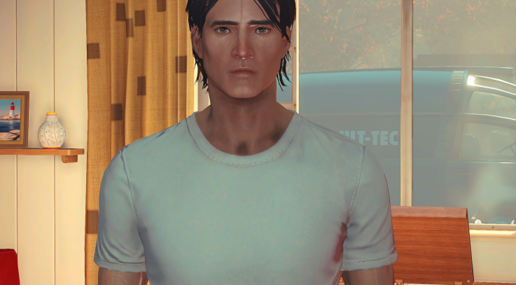 Young Male Face Texture FO4