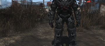 Black Titanium Power Armor Frame