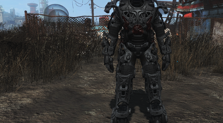Black Titanium Power Armor Frame
