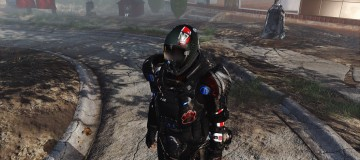 N7 Reskin Combat armor-Kellogg glovers-Red FlightHelmet 2
