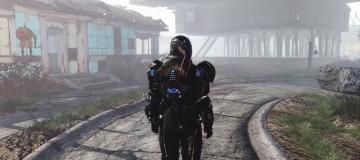N7 Reskin Combat armor-Kellogg glovers-Red FlightHelmet