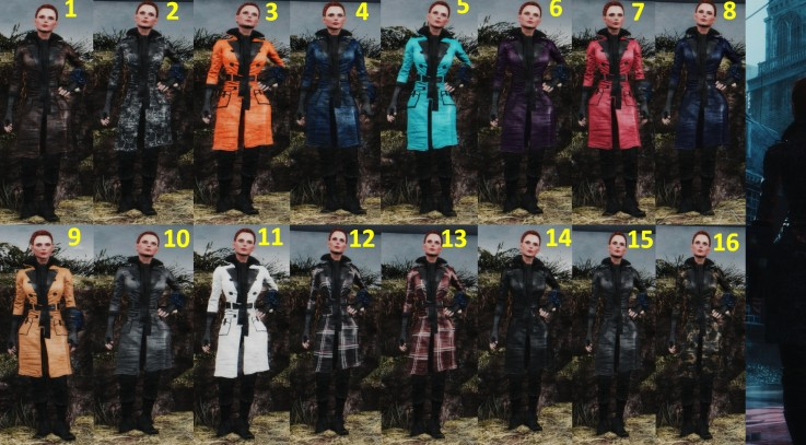Piper's Trench Coat - 16 variations 3