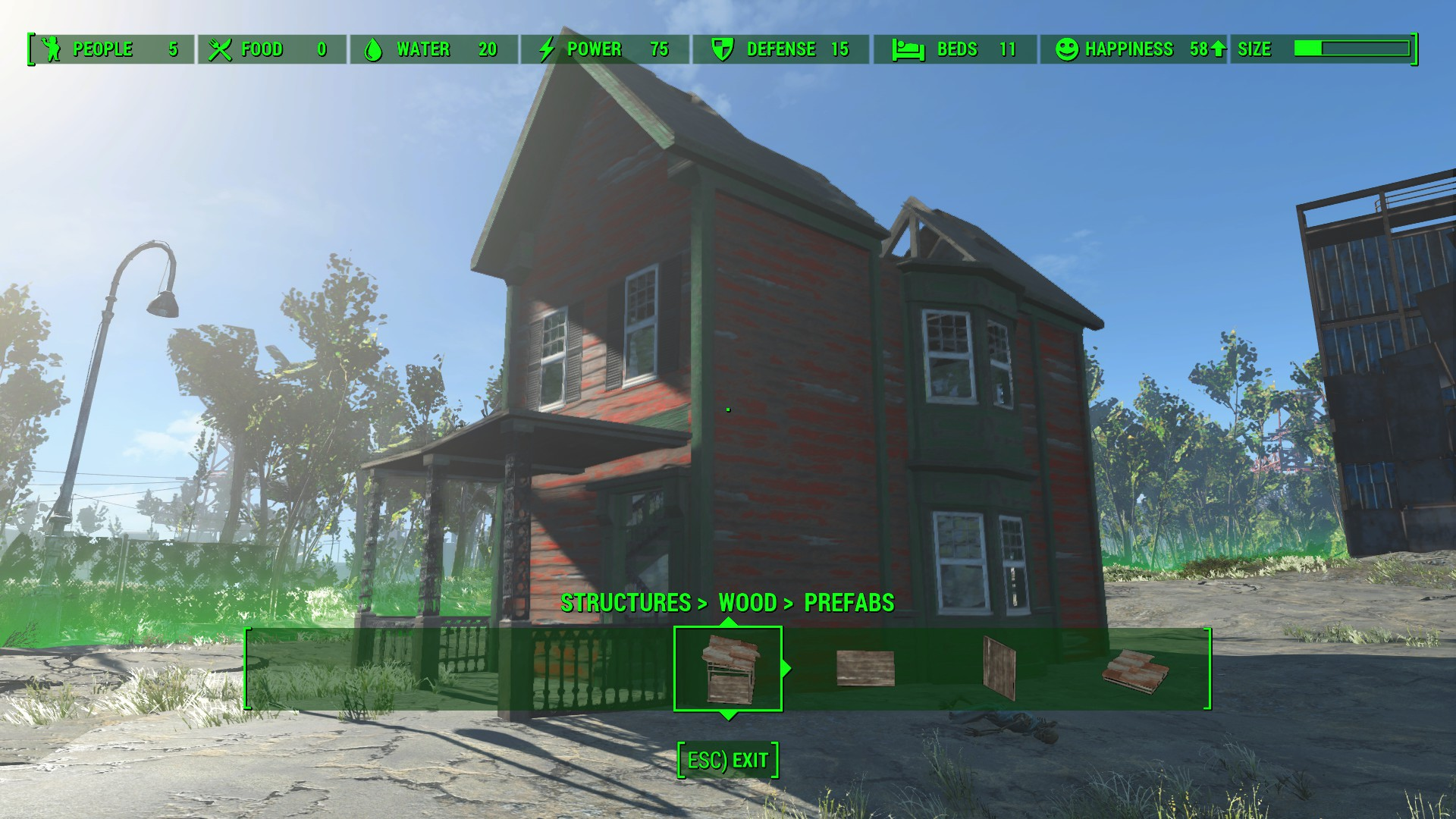 Building With Metal Prefab In Fallout