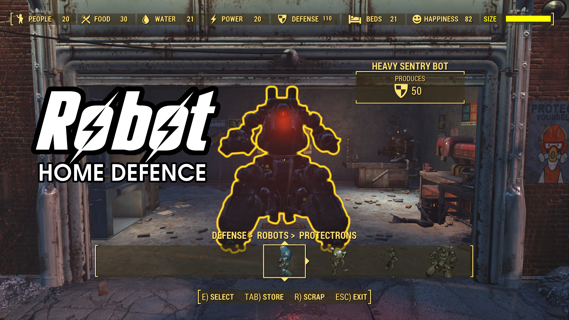 Robot Home Defence Fallout 4 Fo4 Mods