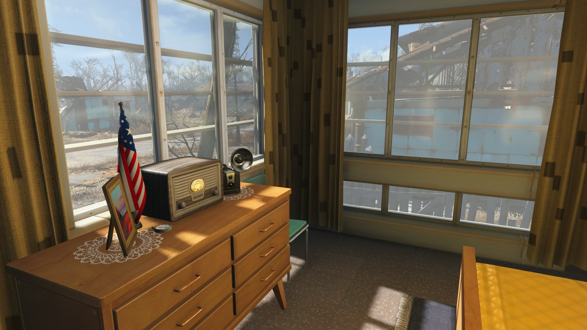 Sanctuary player home restored fallout 4 fo4 mods for Fallout 4 bedroom ideas
