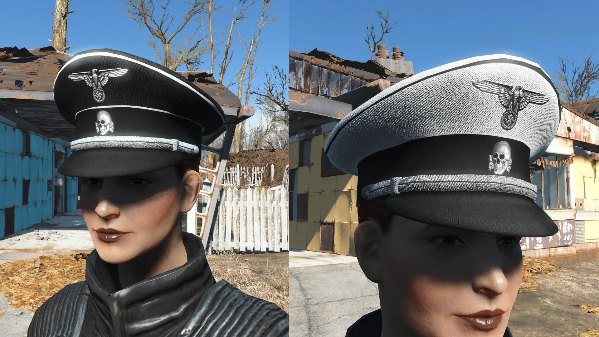 Schutzstaffel Ss 4k Black And White Cap Ww2 Blank