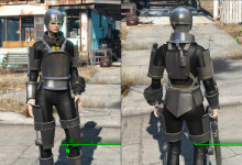 Shadowed Synth Armor