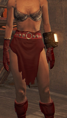 Topless Red Grognak Outfit