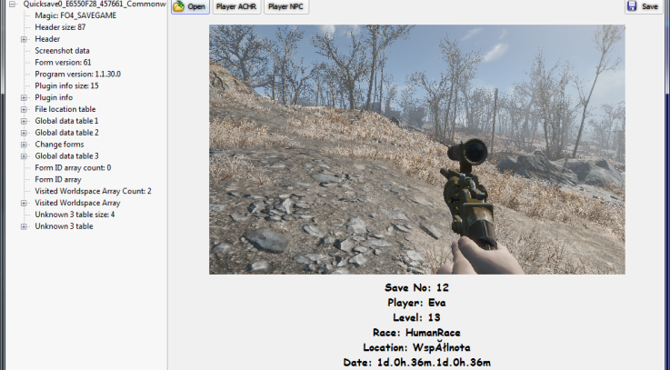 Fallout 4 Save Game Editor - Fallout 4 / FO4 mods