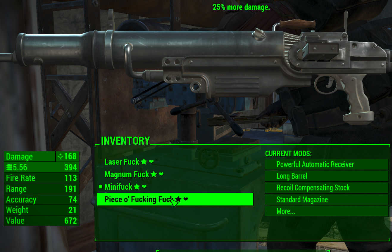 FO 4 Deadly Weapons - Fallout 4 / FO4 mods
