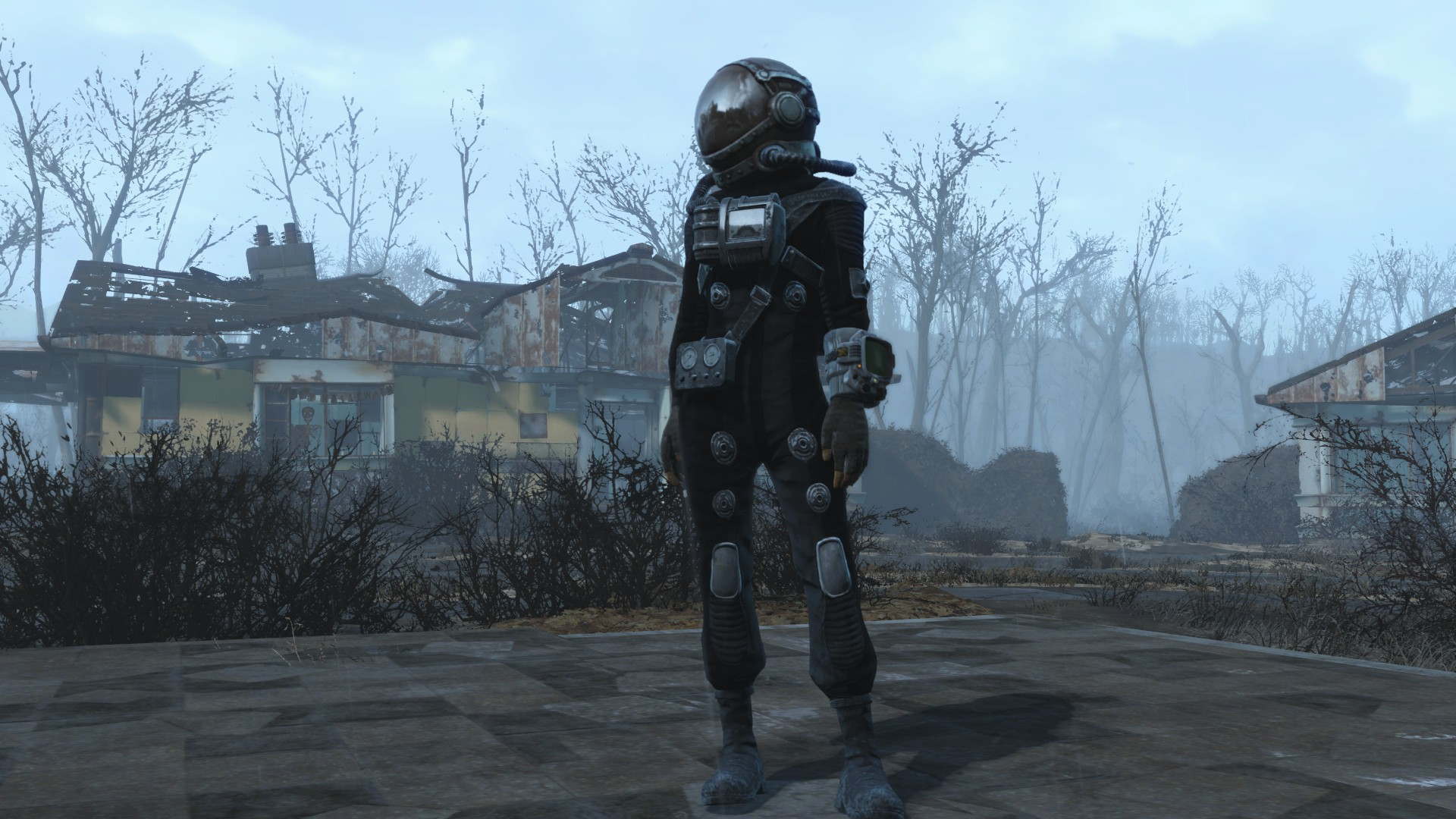 Grey And Black Hazmat Suit Retexture Fallout 4 Fo4 Mods