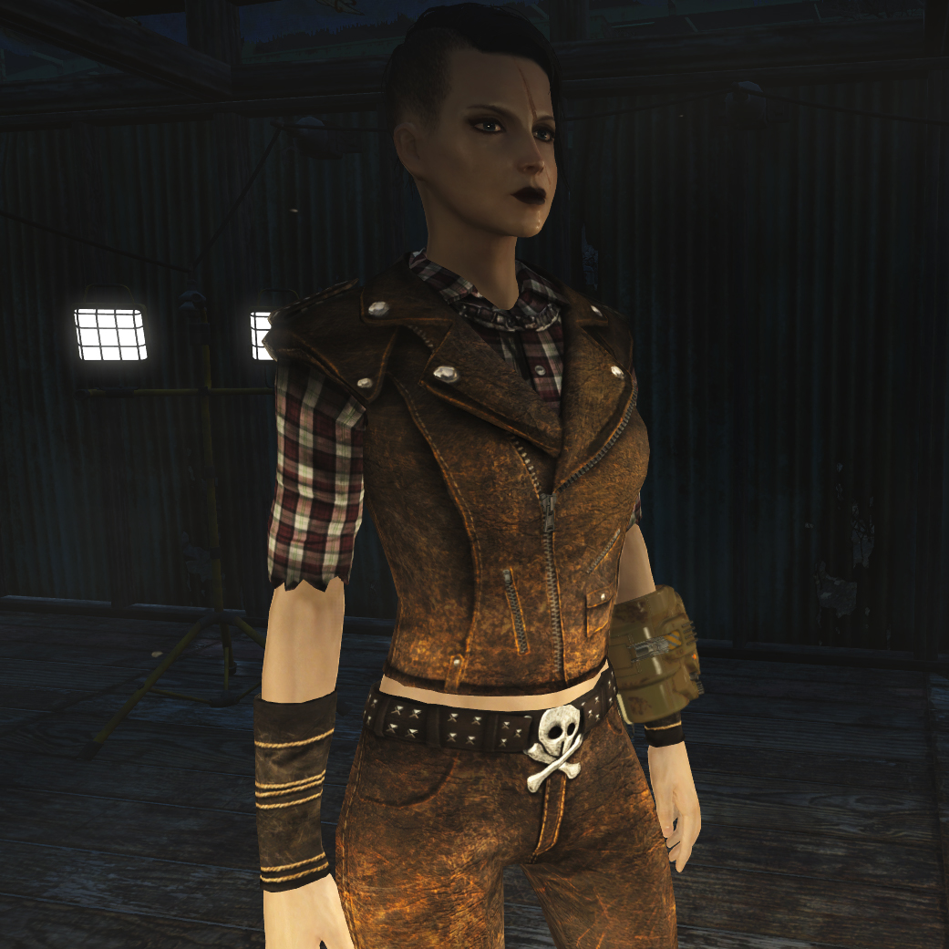 HD Female Road Leathers Retexture Fallout 4 FO4 mods