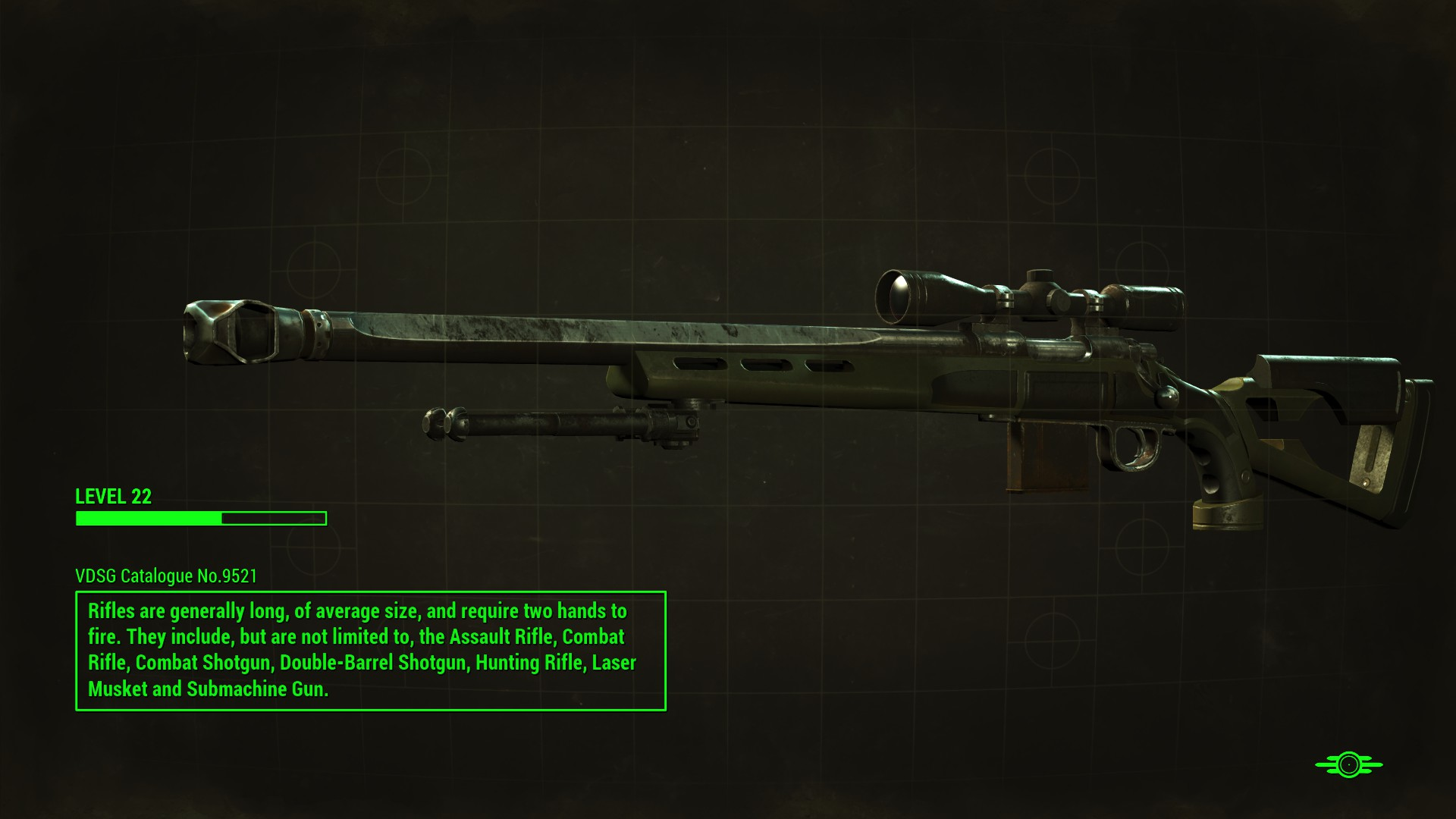 fo4 handmade rifle rifle with bipod fallout 4 fo4 mods 8827