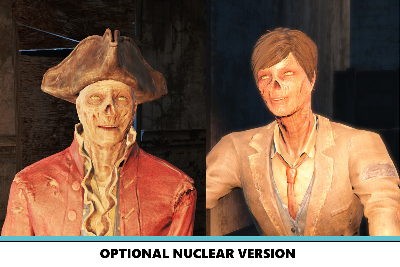 Lore-Friendly Ghoul Eyes Fallout 4 - Fallout 4 / FO4 mods
