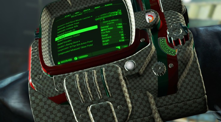 Pipboy Gucci FO4 - Fallout 4 / FO4 mods