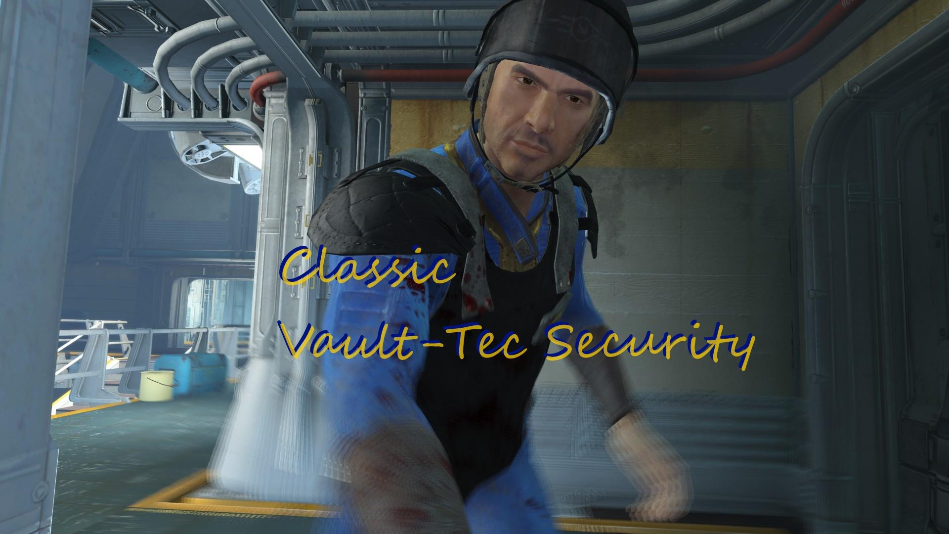 Classic Vault Tec Security Fallout 4 Fo4 Mods